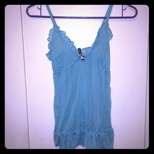 Rampage Sheer Blue Tank Top